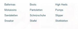 calcadoo.de Deutschland Bsp Produkte