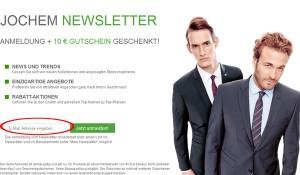 Herrenmode Jochem.de Deutschland Newsletter